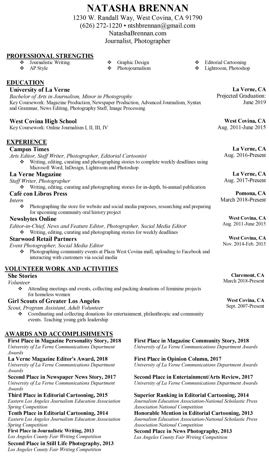 20180530_Brennan_Resume (Journalism)